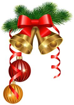 236x335 Christmas Red Bow And Bells Corner Transparent Png Clip Art Image