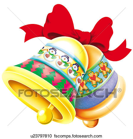 450x470 Clipart Of Christmas Bells U23797810