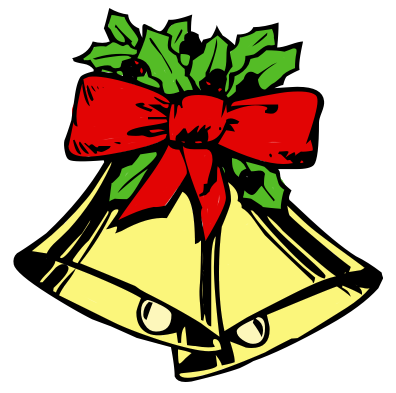 396x393 Holley Clipart Christmas Bell