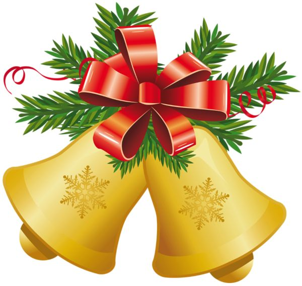 600x568 Clipart Christmas Bells