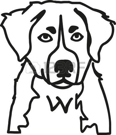 386x450 Bernese Mountain Dog Clipart Head