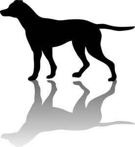276x300 Pointer Dog Clipart