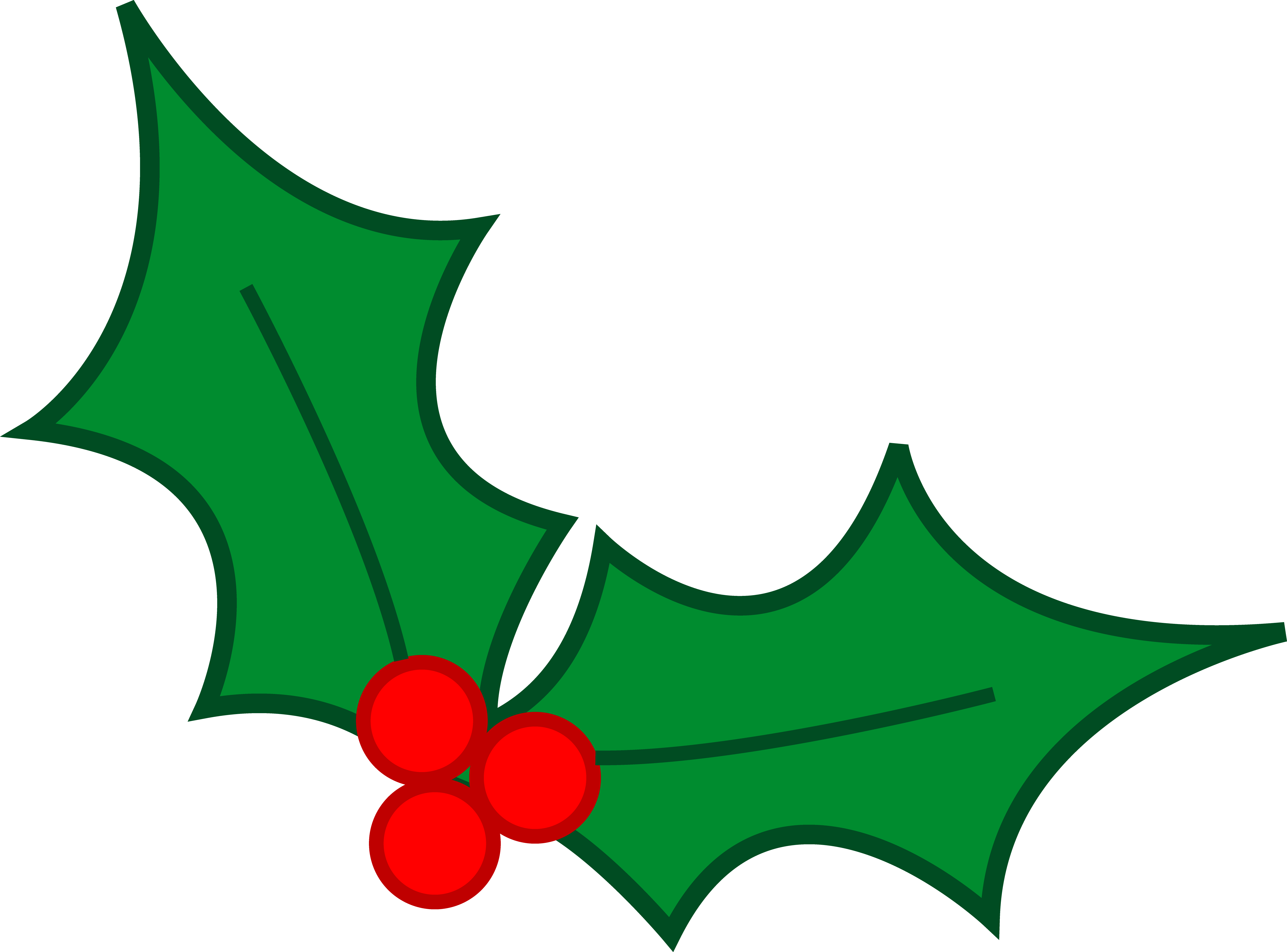 5487x4058 Christmas Clipart Holly Berry
