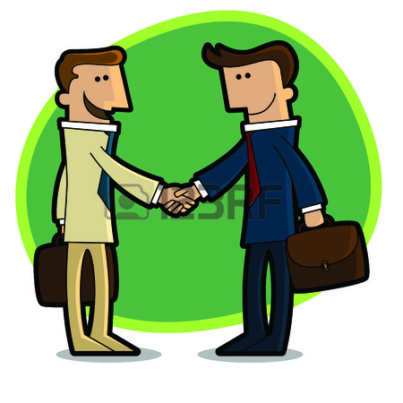 450x450 A Handshake Between Two Businessmen Who Agreed Royalty Free