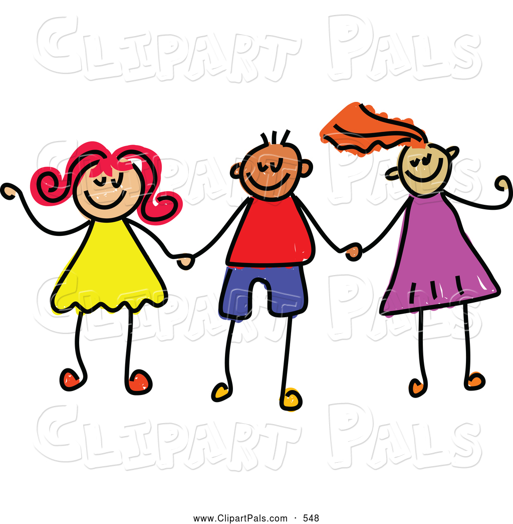 1024x1044 Pal Clipart Of A Childs Sketch Of Boys And Girls Holding Hands
