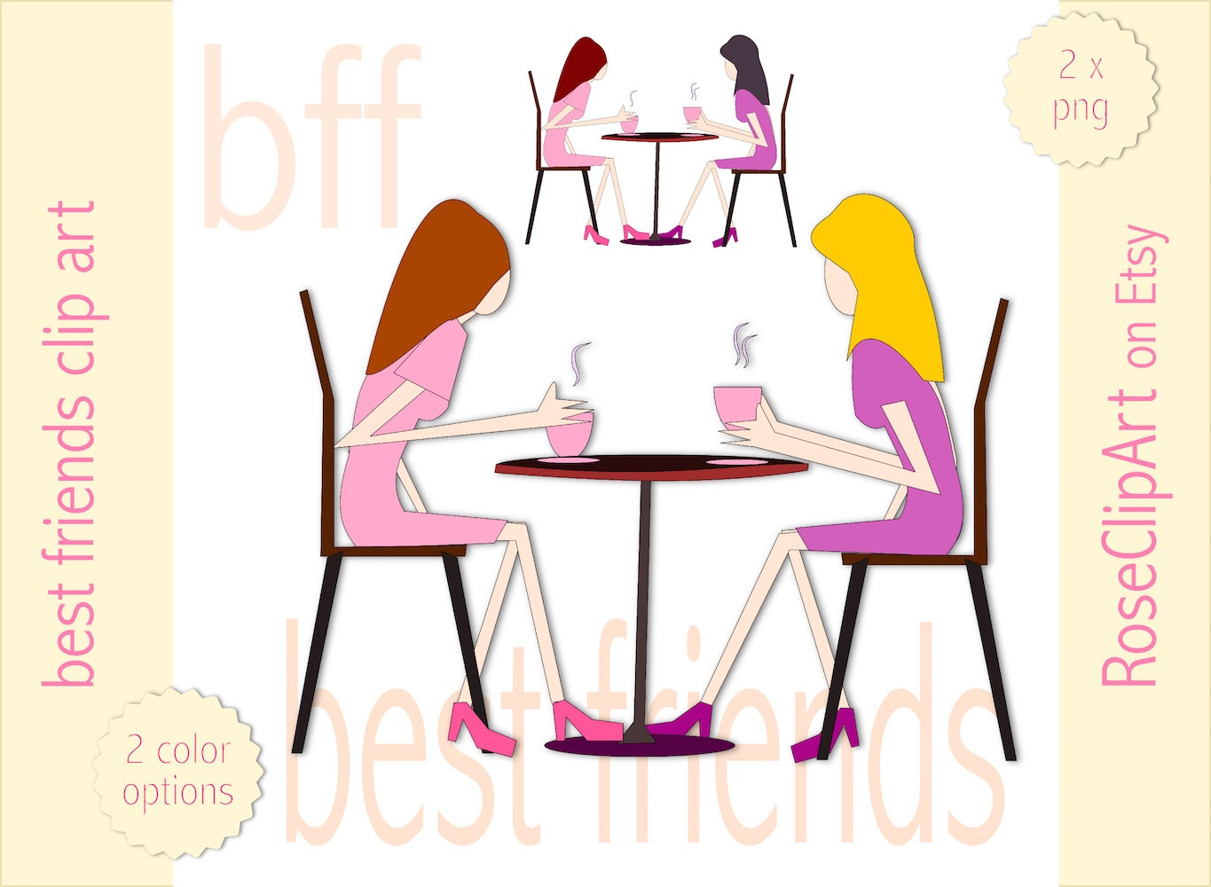 1365x1000 Best Friends With Coffee Clip Art