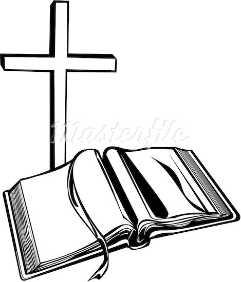 469x550 Cross And Bible Clipart