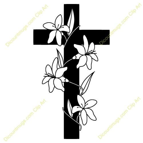 500x500 Graphics For Cross Flowers Bible Clip Art Graphics Www