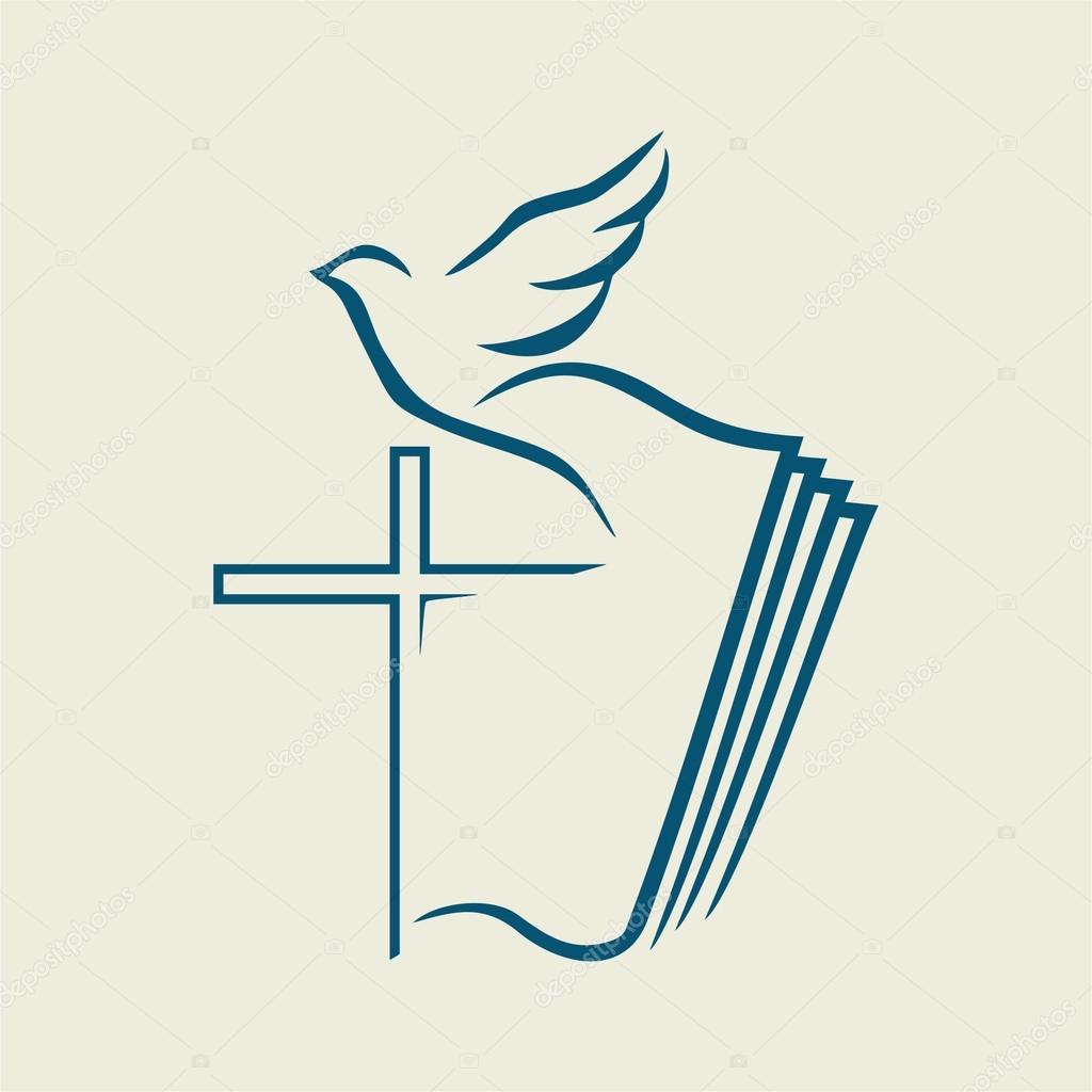 1024x1024 Holy Spirit, Cross, Dove, Bible Stock Vector Biblebox