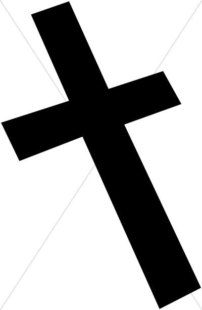 400x612 Black Cross Askew Cross Clipart