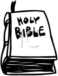 231x300 And White Holy Bible Clipart Image