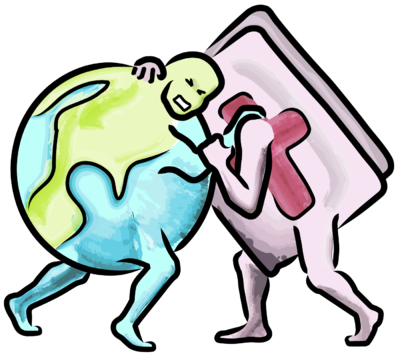 400x356 Image Bible Wrestling The World Bible Clip Art