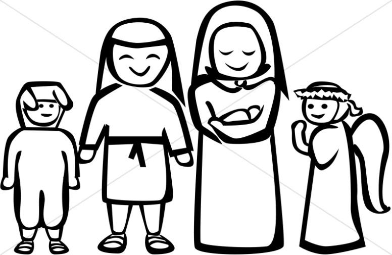 776x505 Black And White Nativity Play Clipart Nativity Clipart