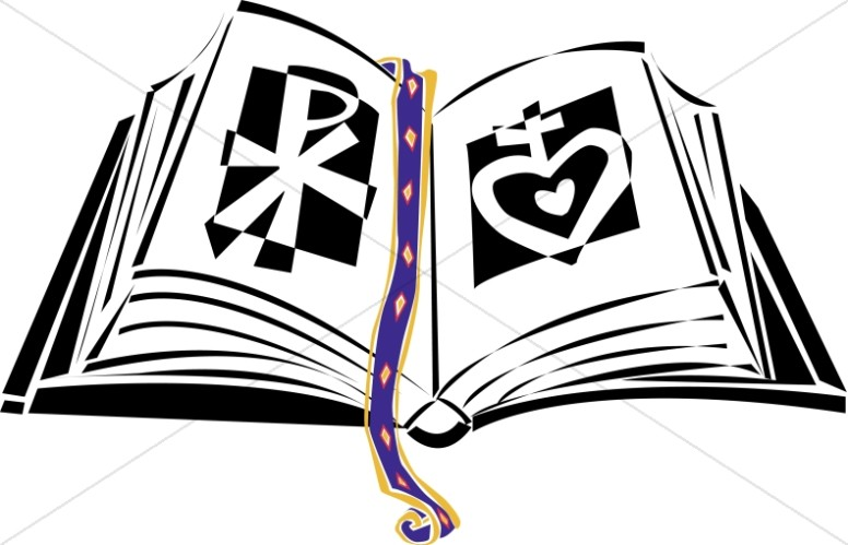 776x499 Ornate Bible With A Rose Bible Clipart