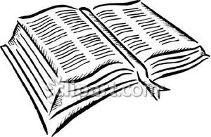 300x195 And White Bible Open To Reveal Scripture