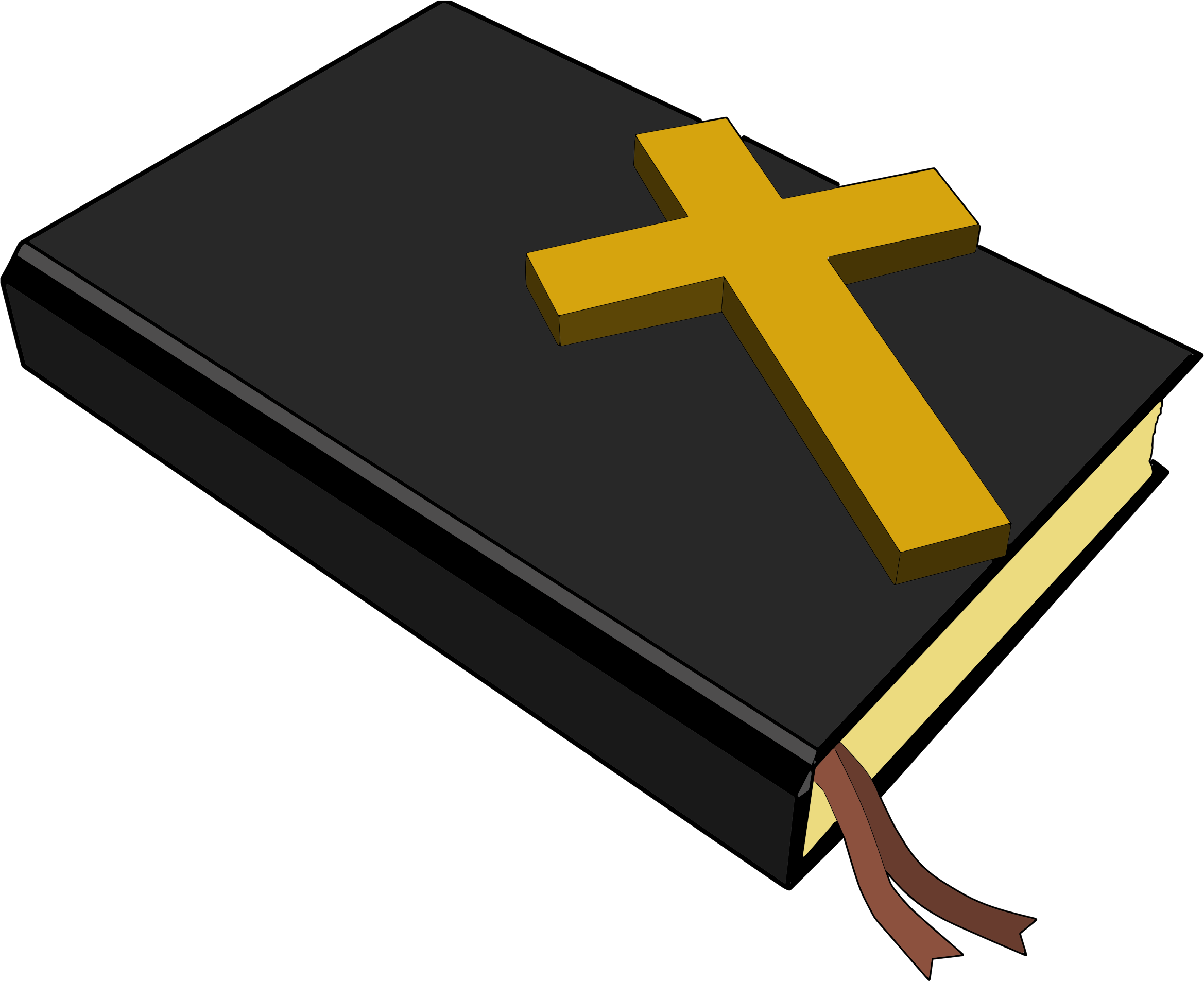 2338x1905 Bible And Cross Clipart