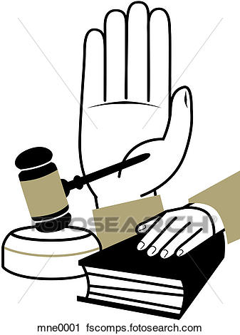 337x470 Clipart Of A Montage Illustration Of A Hand Taking An Oath, A Hand