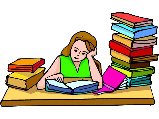 641x480 Free Clipart Girl Studying