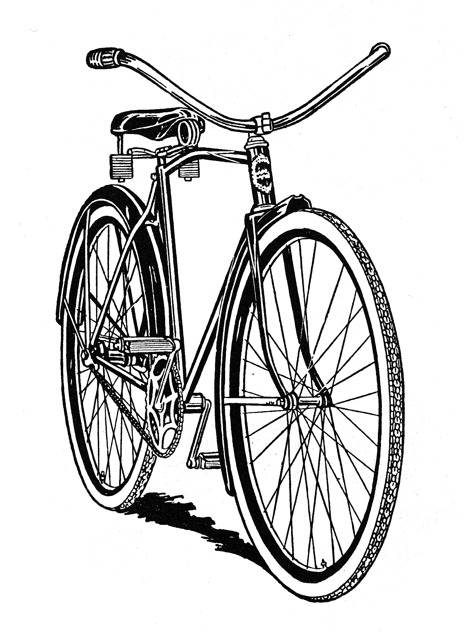 Bicycle Clipart Black And White | Free download best Bicycle ... for Bicycle Clipart Black And White  173lyp