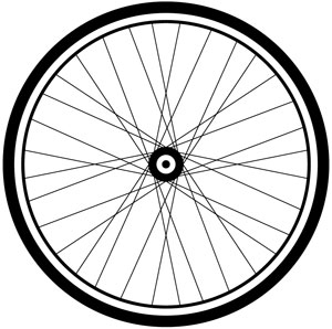 300x298 Bicycle Clipart Bicycle Wheel