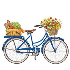 240x240 Bicycles With Baskets Clipart