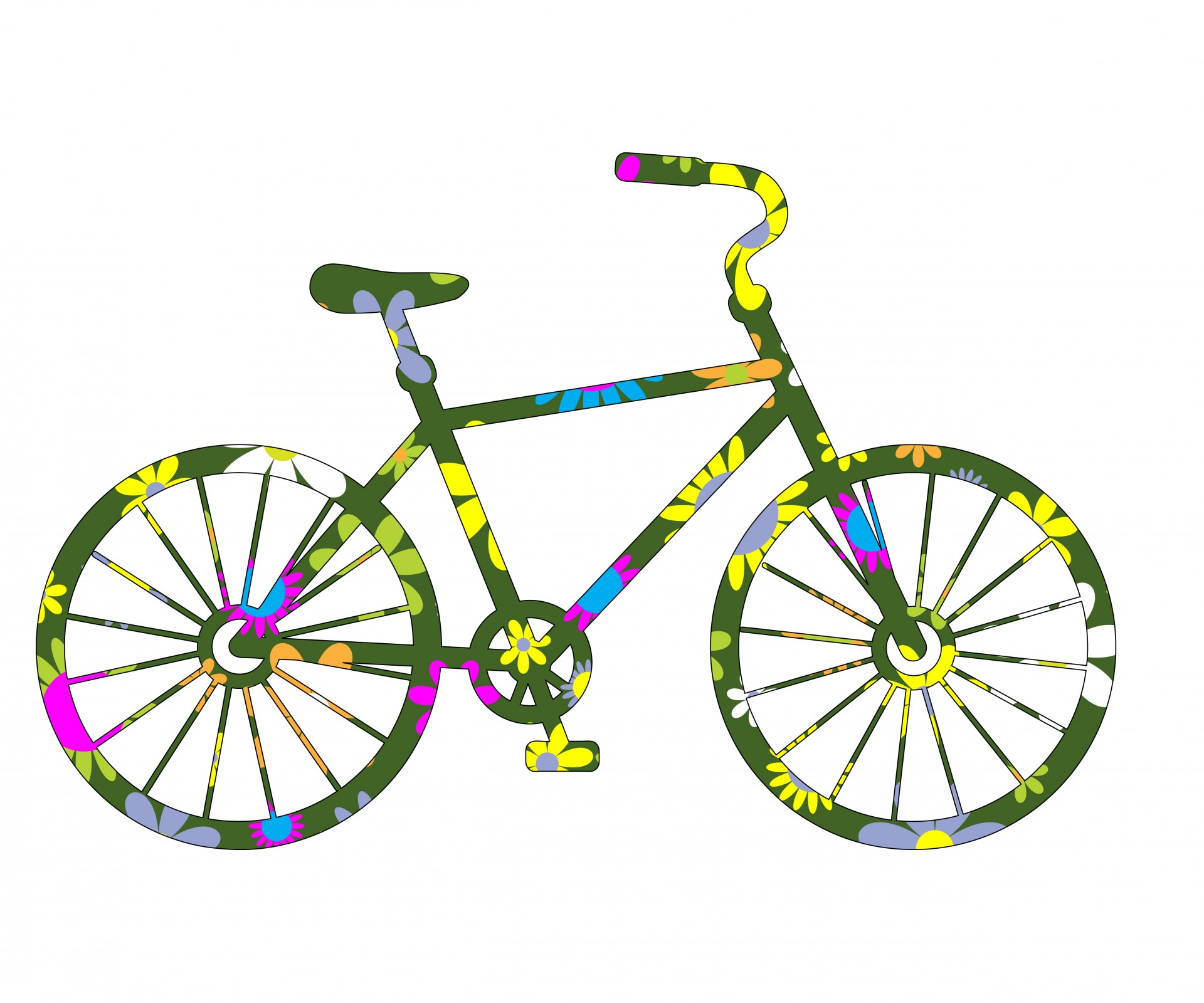1920x1600 Colorful Clipart Bicycle