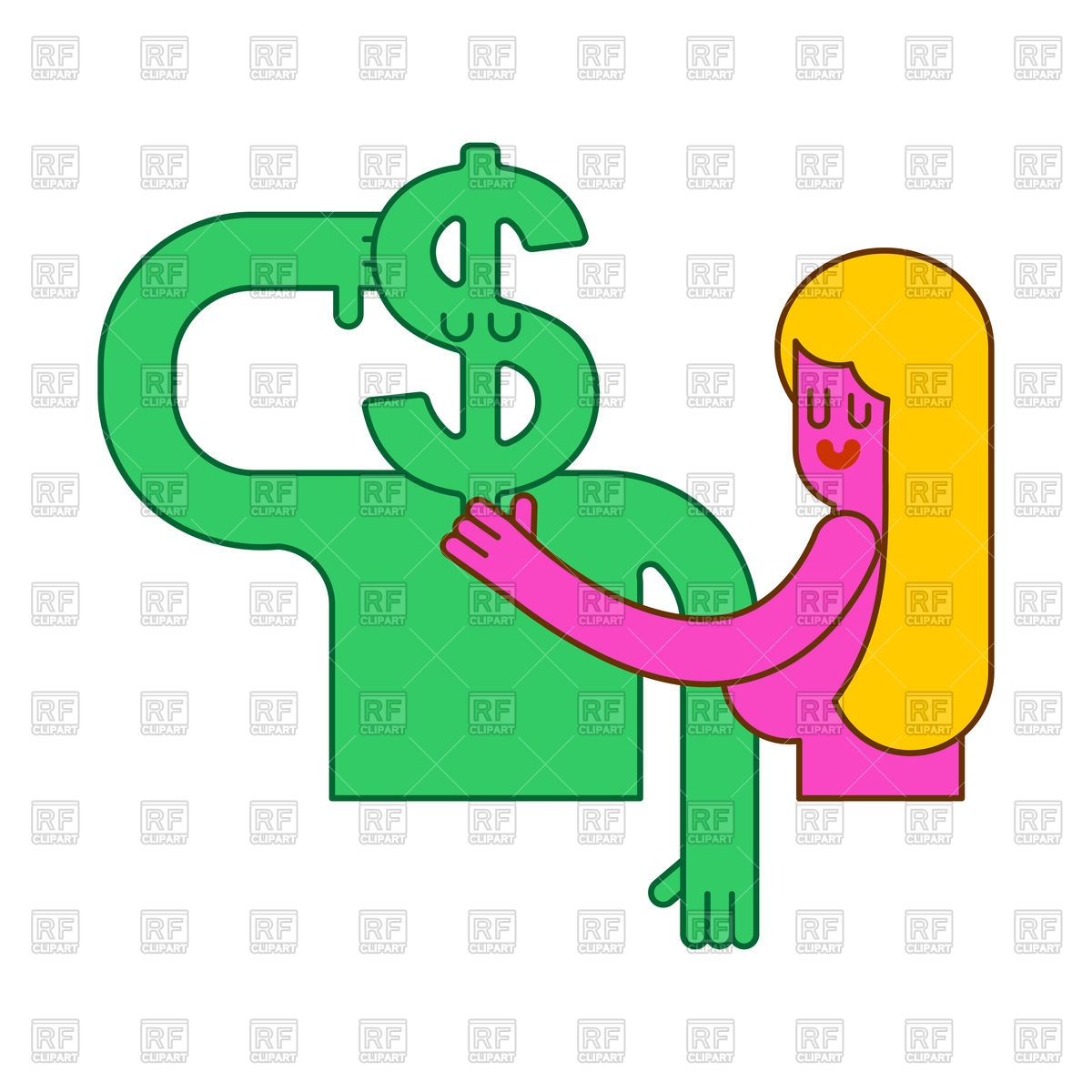 1200x1200 Woman In Bed With Dollar. Sex For Money Concept. Royalty Free