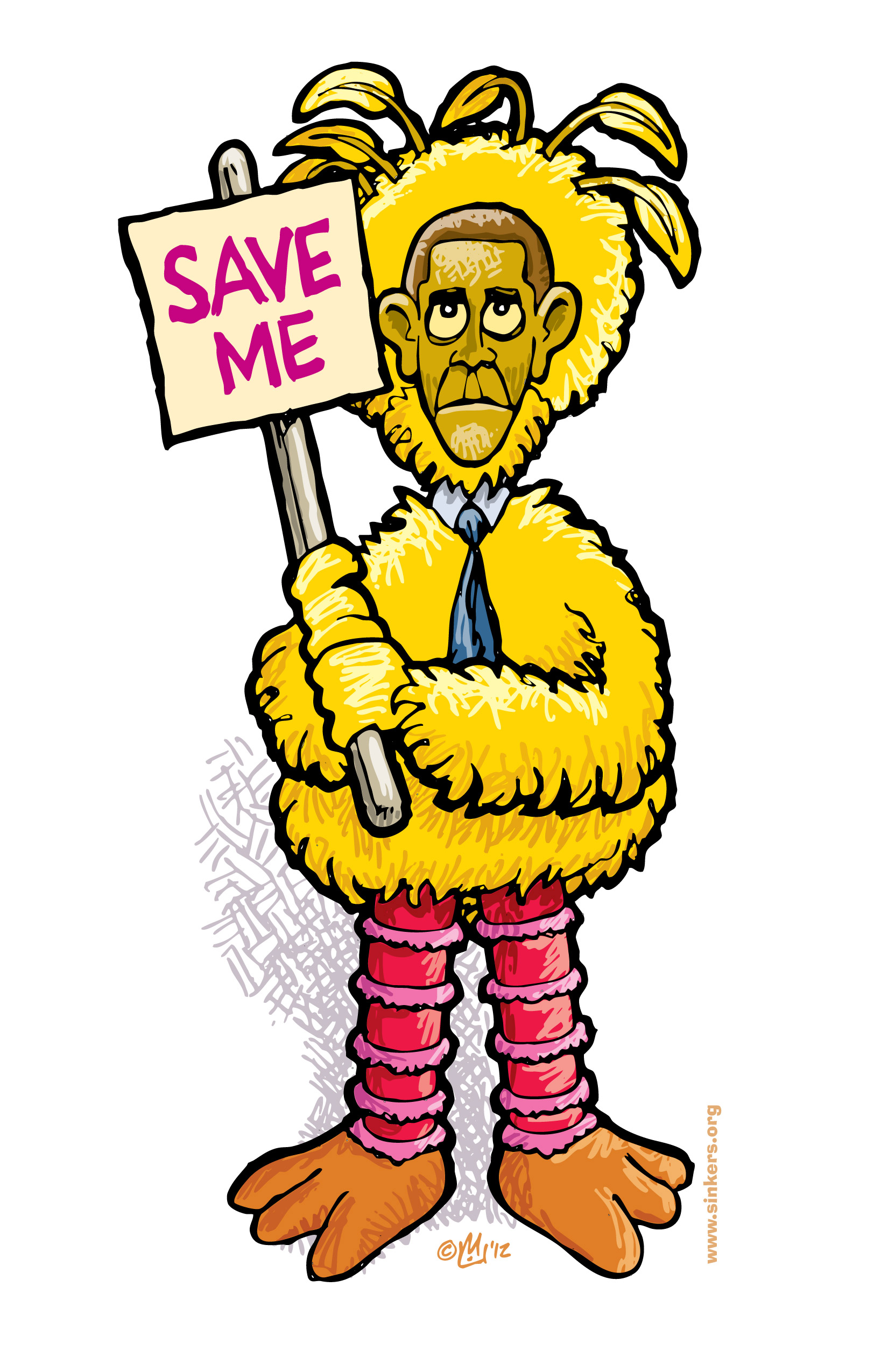 1650x2550 Big Bird Obama Save Me Fired Big Bird Mitt Romney Hates Big