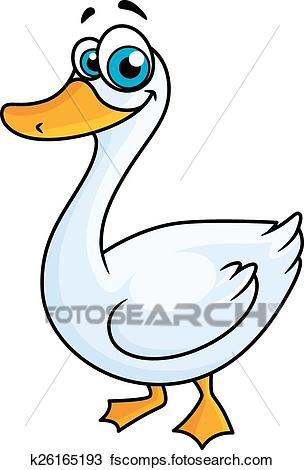 304x470 Clipart Of Cartoon Goose With Big Eyes K26165193