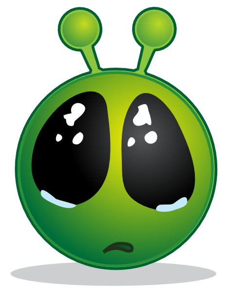 468x598 Smiley Green Alien Big Eyes Clip Art