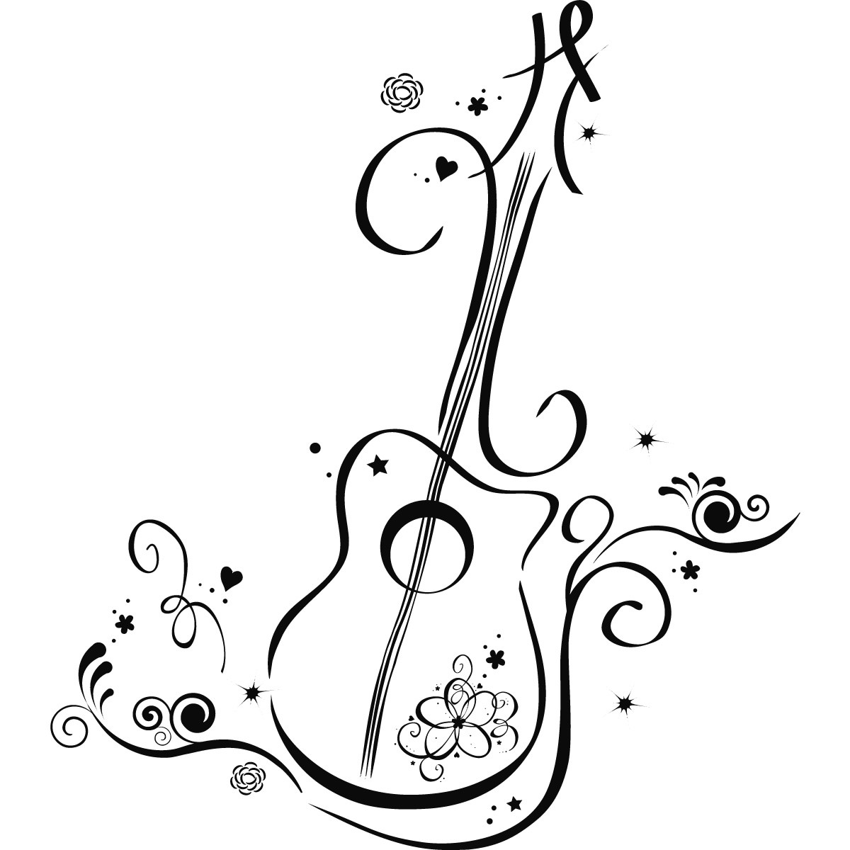 1200x1200 Black And White Guitar Wallpaper Free Download Hd Wallpapers