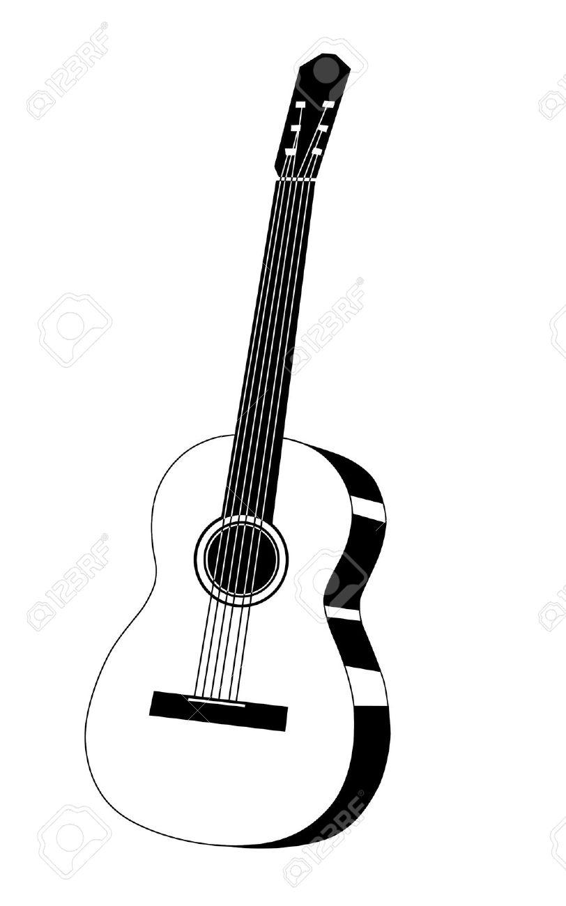 812x1300 Drawn Guitar Illustration