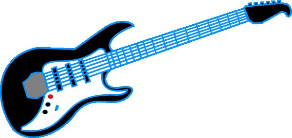 600x284 Electric Guitar Clipart