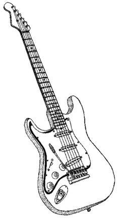 236x434 How To Draw An Electric Guitar Step By Step Drawing Tutorials