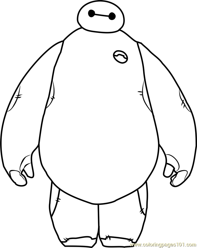 635x800 Baymax Coloring Page