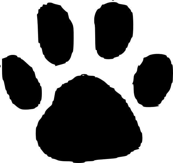 600x567 Dog Footprint Clipart