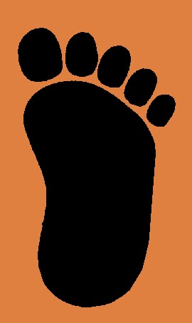 270x454 Sasquatch Clipart Bigfoot Footprint
