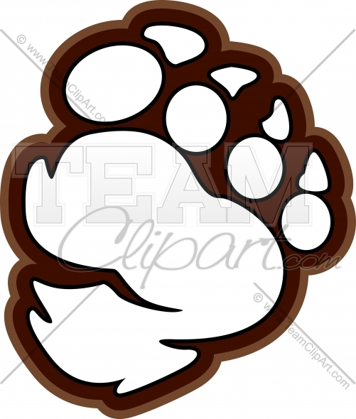 501x590 Yeti Or Bigfoot Paw Or Claws Clipart Image