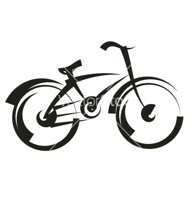 380x400 Bike Freehand Drawing Black And White Vector Logos