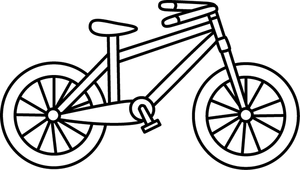 600x340 Black And White Bicycle Clip Art