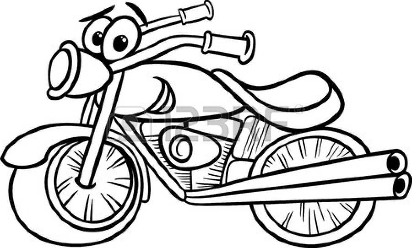 1350x813 Motorcycle Clipart Black And White