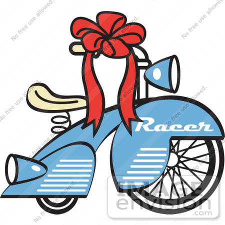 450x450 Royalty Free Cartoon Clip Art Of A Brand New Blue Racer Tricycle