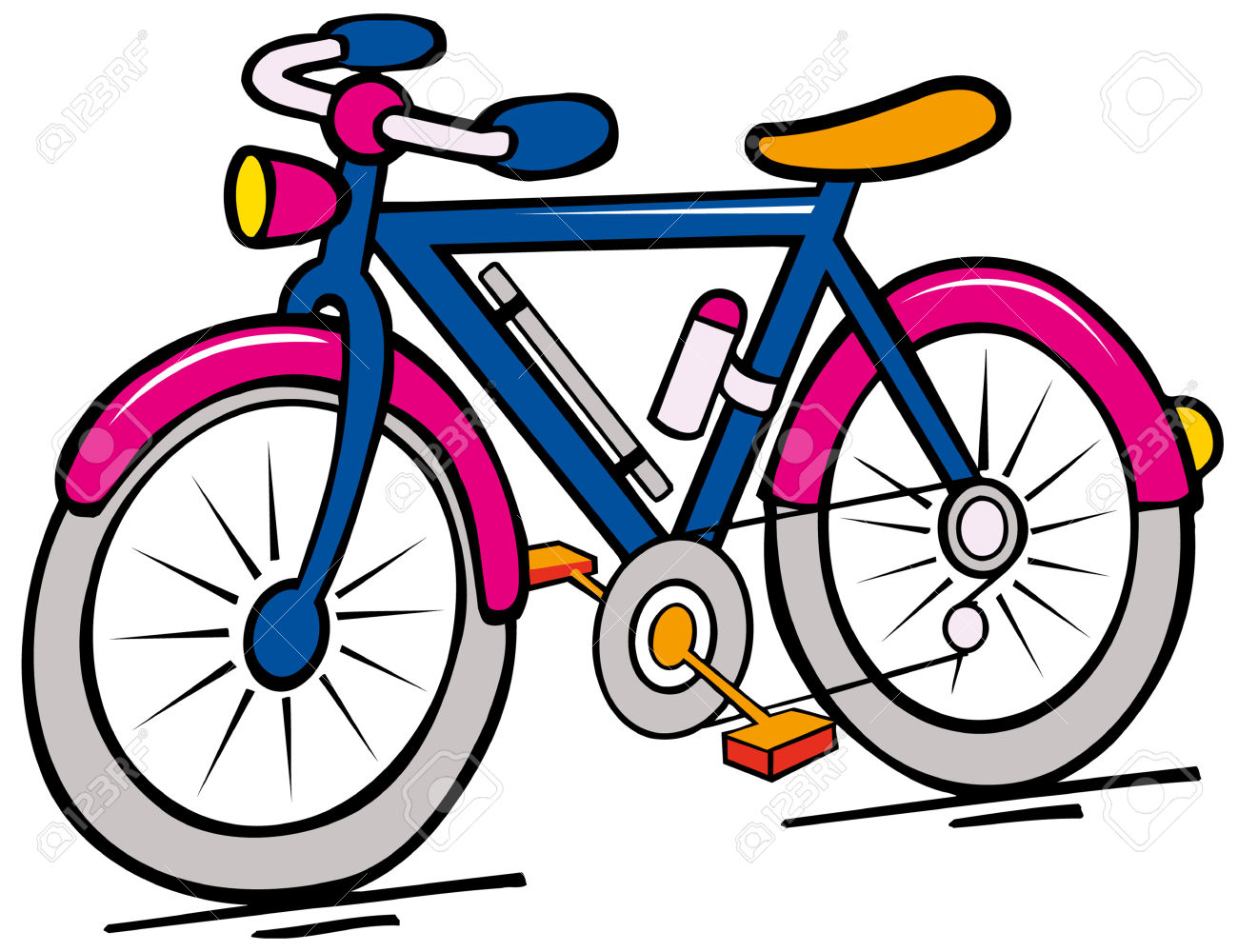 1300x1000 Bike Clipart Cartoon