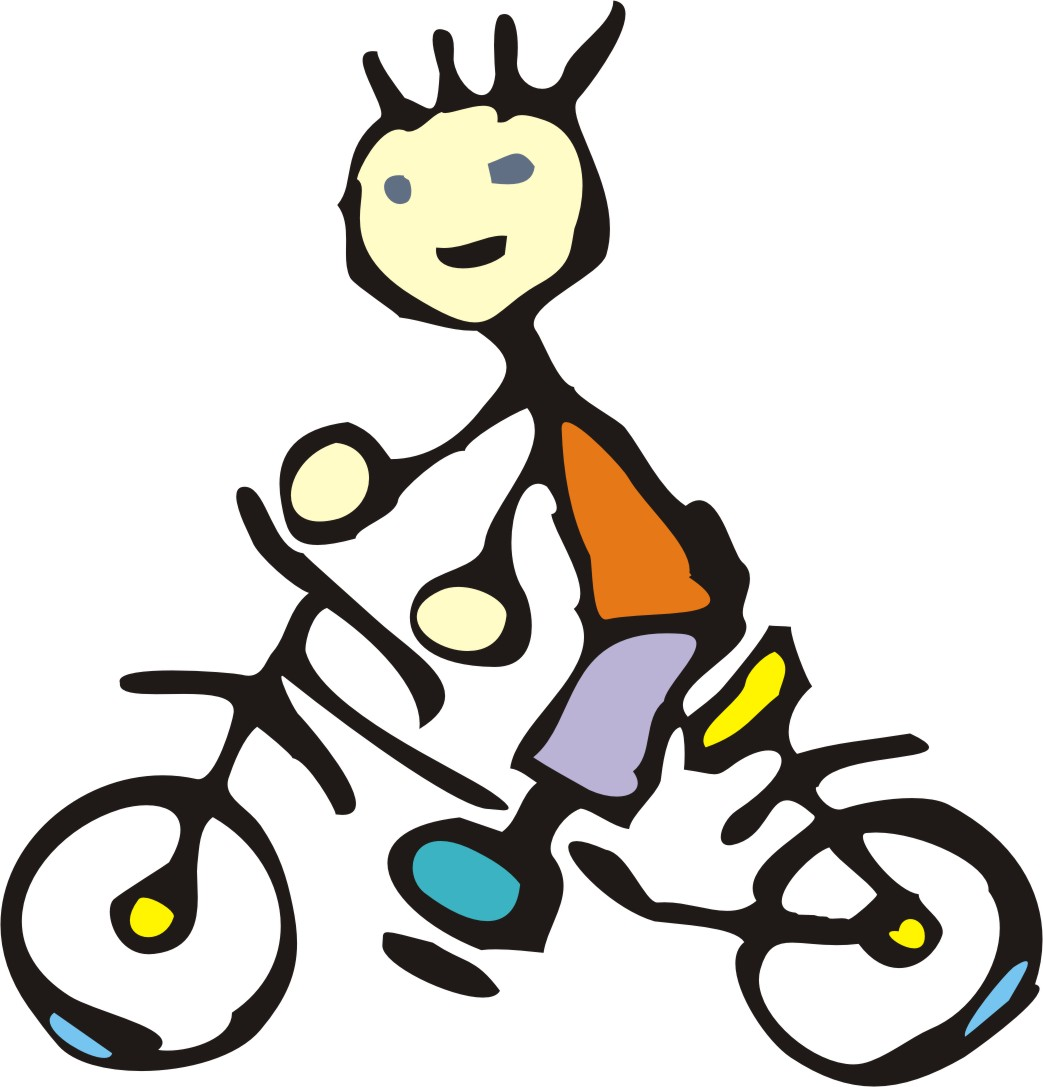 1043x1087 Cartoon Bike Rider