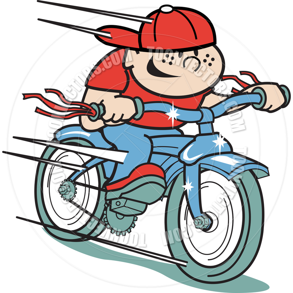 940x940 Cartoon Boy Bike Vector Illustration By Clip Art Guy Toon