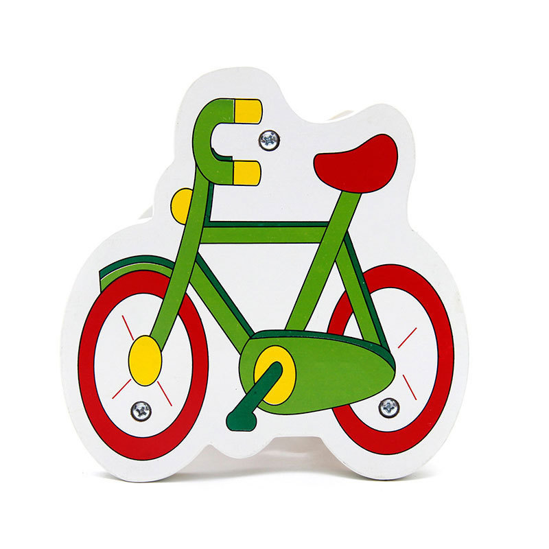 800x800 Simingyou Wooden Toys Bike Cartoon One Pcs Intelligence Maths Bead