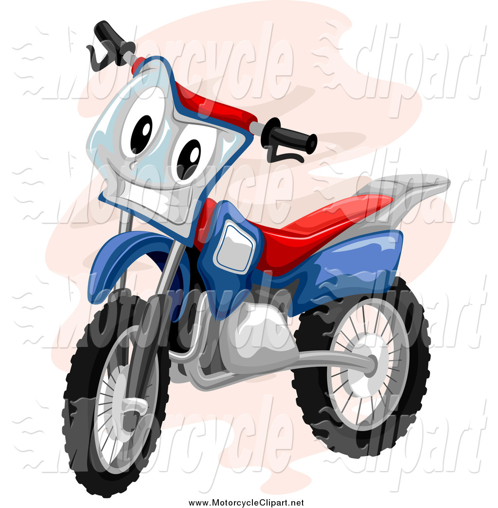 1024x1044 Transportation Clipart Of A Cartoon Motocross Bike Smiling By Bnp