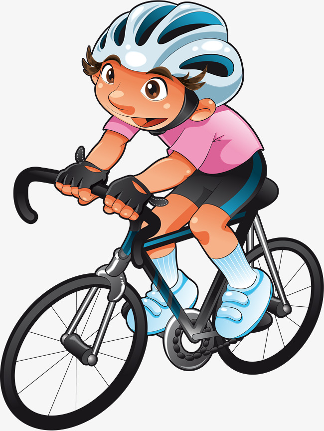650x864 Cartoon Mountain Bike, Cartoon, One, Athlete Png Image For Free