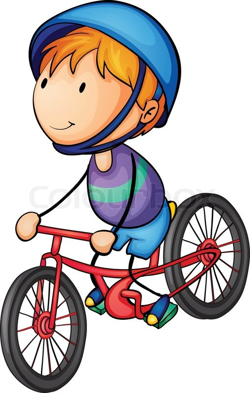 509x800 A Boy Riding On A Bicycle Stock Vector Colourbox