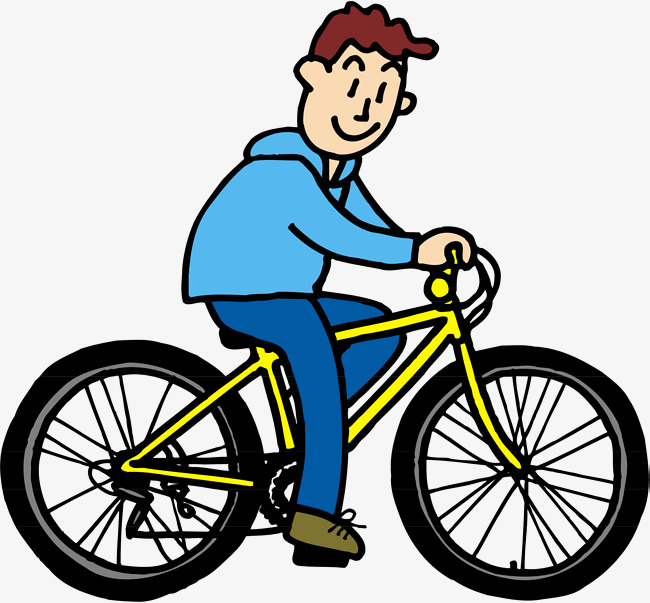 650x603 A Man Riding A Bike, The Man, Bicycle, Cartoon Png And Vector